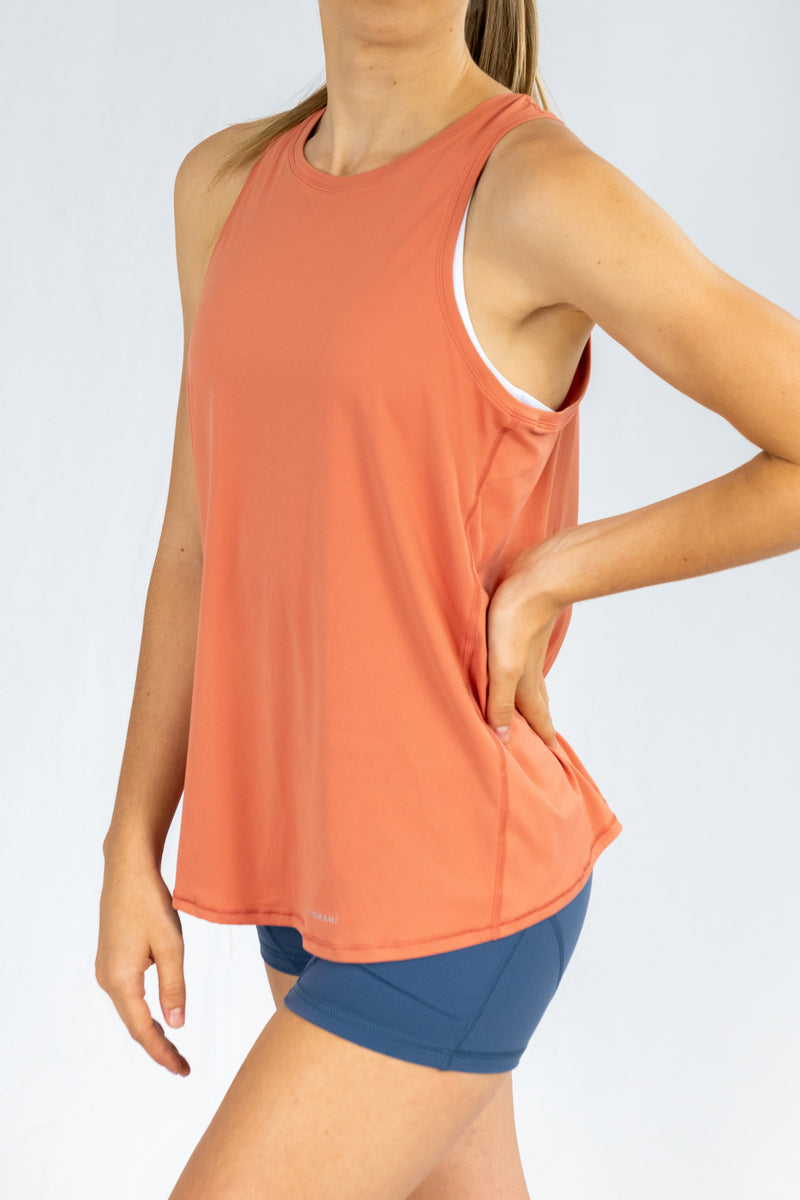 Corfu Tie-Back Top - Orange Coral