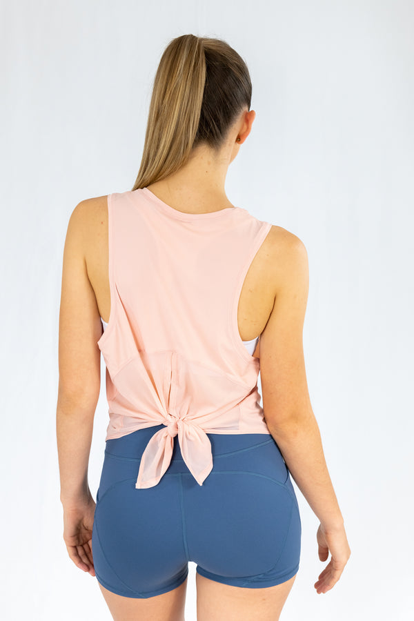 Crete Tie-Back Top - Pink Lemonade