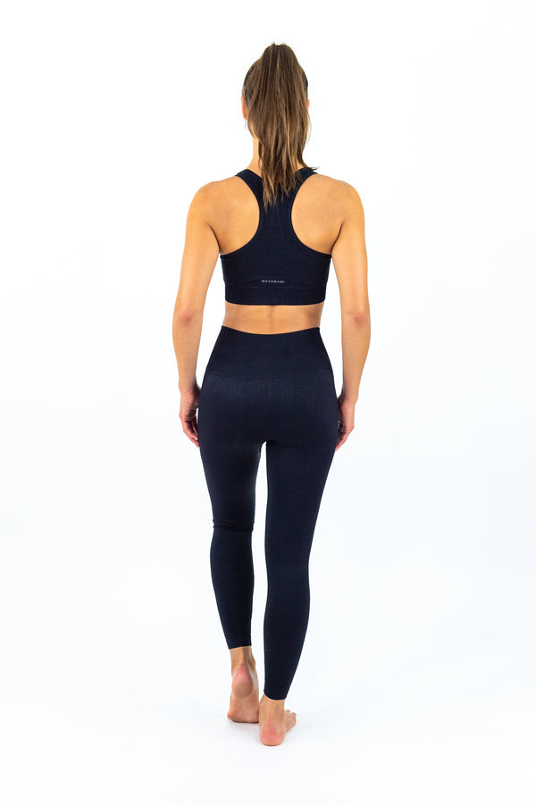 ELANORA Seamless Leggings - 7/8 AnkleBiters - Black Ink