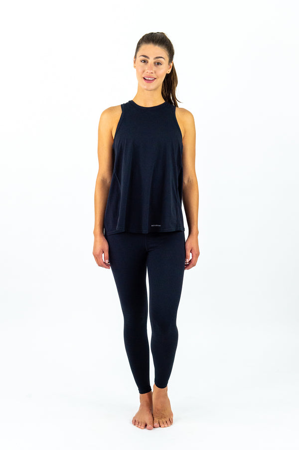 Corfu Tie-Back Top - Black Ink
