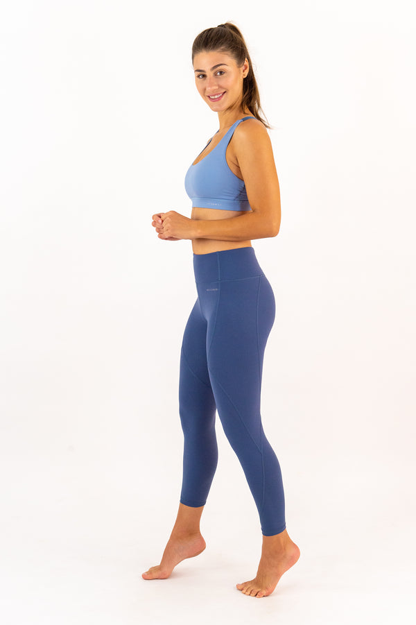 LONDON Leggings - 7/8 Capris - Winter Blue