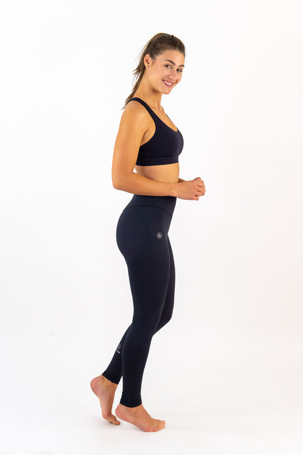 GISELE High-Waist Leggings - Black Ink