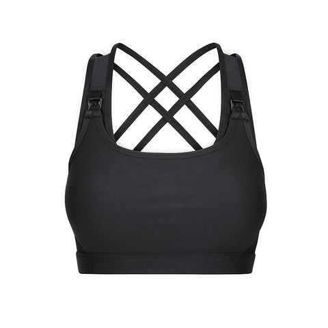 MOVEMAMÍ - 'LUNA' Nursing Sports Bra - Black Ink - PREORDER
