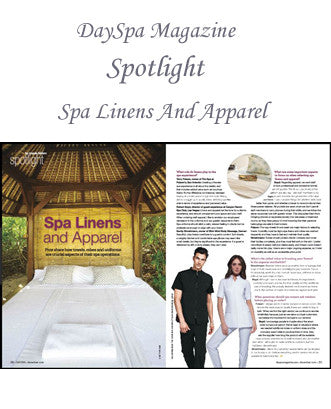 STYLEMONARCHY Spa Uniforms featured in DaySpa Magazine