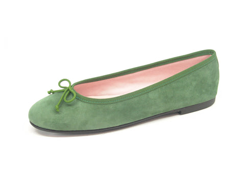 STYLEMONARCHY Valentina Green Flat Shoes