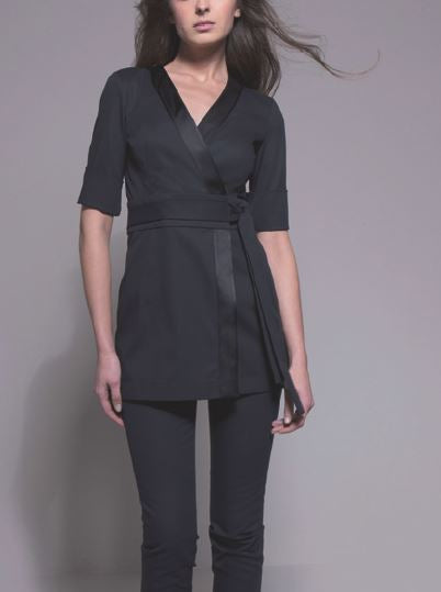 NAGOYA Tunic (Black) by STYLEMONARCHY. Spas - Beauty - Medical,  - stylemonarchy.com