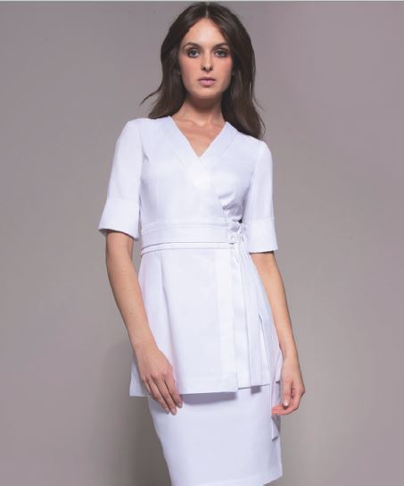 Nagoya Tunic (White) by STYLEMONARCHY. For Spas - Beauty - Medical
