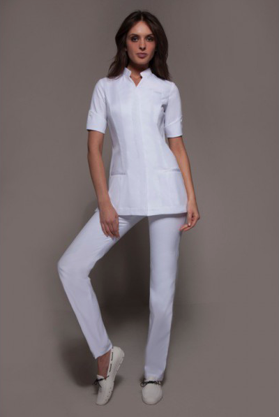 fashionable spa uniforms niagara cordoba set white