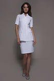 STYLEMONARCHY Spa Uniforms & Medical Uniforms. MANHATTAN Skirt (White), with Niagara tunic - stylemonarchy.com