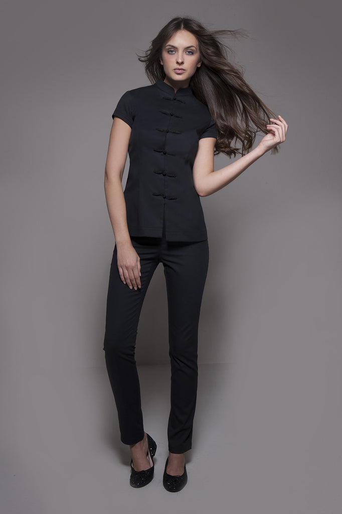 SHANGHAI Tunic (Black) - Cordoba Set - SHANGHAI Tunic (Black) - stylemonarchy.com. Perfect Spa Uniforms as well as Hospitality Uniforms.