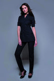 STYLEMONARCHY Spa Uniforms & Hospitality Uniforms. NIAGARA Tunic (Black) - with Cordoba Pants- stylemonarchy.com