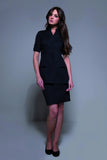 STYLEMONARCHY Spa Uniforms & Hospitality Uniforms. NIAGARA Tunic (Black) - with Manhattan Skirt- stylemonarchy.com