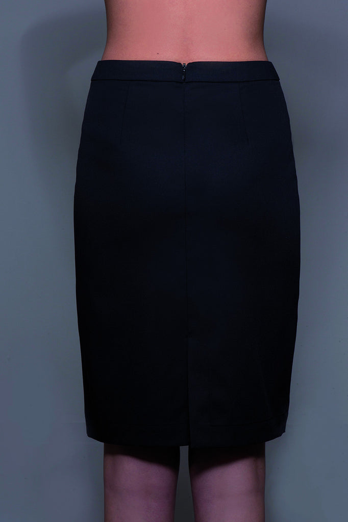 STYLEMONARCHY Spa Uniforms & Hospitality Uniforms. MANHATTAN Skirt (Black) Back - stylemonarchy.com