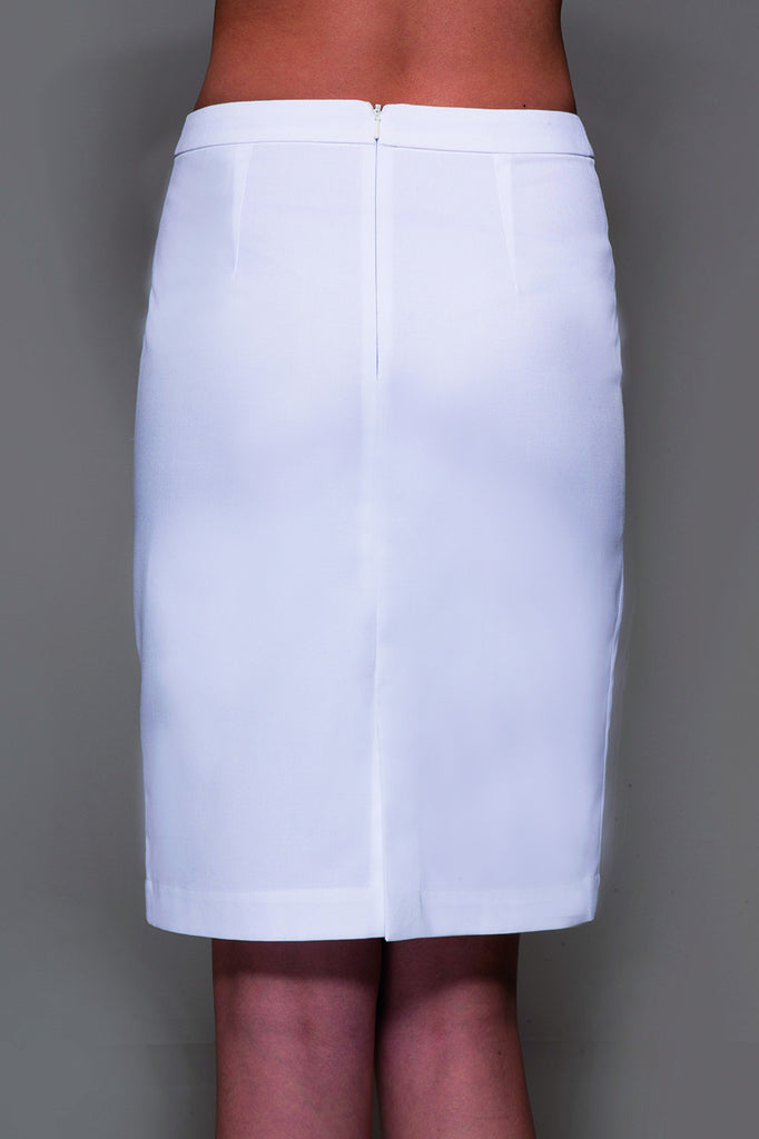 STYLEMONARCHY Spa Uniforms & Medical Uniforms. MANHATTAN Skirt (White), Back - stylemonarchy.com