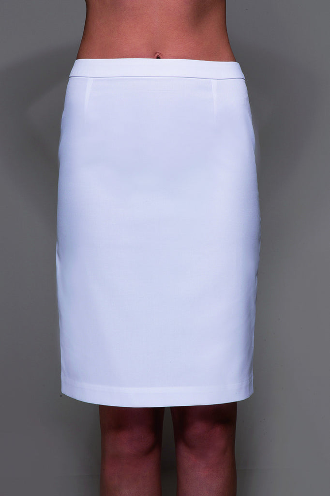 STYLEMONARCHY Spa Uniforms & Medical Uniforms. MANHATTAN Skirt (White) - stylemonarchy.com