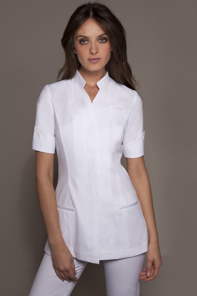 Designer spa uniforms medical uniforms niagara tunic for Spa uniform tops