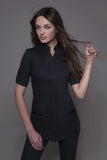 STYLEMONARCHY Spa Uniforms & Hospitality Uniforms. NIAGARA & MANHATTAN Set (Black), Niagara Tunic - stylemonarchy.com