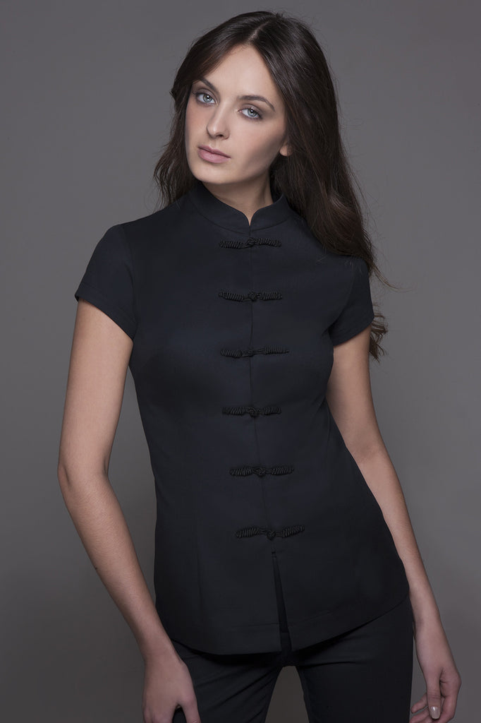 SHANGHAI Tunic (Black) - stylemonarchy.com. Perfect Spa Uniforms as well as Hospitality Uniforms.