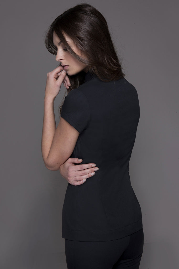 SHANGHAI Tunic (Black), Profil - SHANGHAI Tunic (Black) - stylemonarchy.com. Perfect Spa Uniforms as well as Hospitality Uniforms.