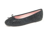 Leather Isabella Glitter black Professional Shoes for Spa, Welness, Medical - STYLEMONARCHY, Comfortable Flats - stylemonarchy.com
