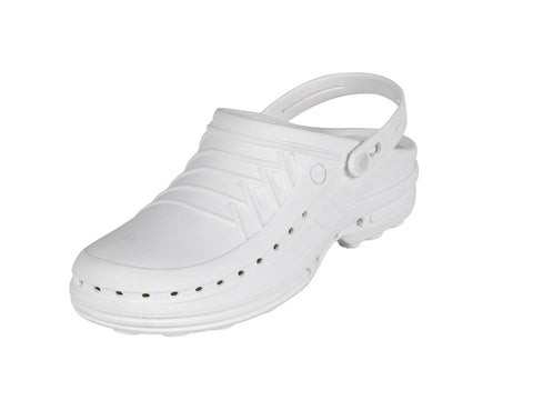 Leather Zoe Off White Professional Shoes for Spa, Welness, Medical - STYLEMONARCHY