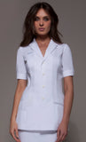 SEATTLE Tunic (White) by STYLEMONARCHY. For Spas - Beauty - Medical, Tunics - stylemonarchy.com