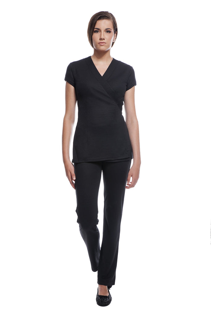 Comfortable spa uniforms sao paulo cancun set black for Spa uniform tops