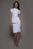 STYLEMONARCHY Spa Uniforms & Medical Uniforms. MANHATTAN Skirt (White), with Shanghai tunic - stylemonarchy.com