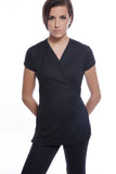 STYLEMONARCHY Spa Uniforms. SAO PAULO & CANCUN Set (Black) - Sao Paulo Tunic - stylemonarchy.com