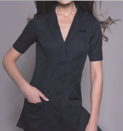 SEATTLE Tunic (Black) by STYLEMONARCHY. For Spas - Beauty - Medical, Tunics - stylemonarchy.com