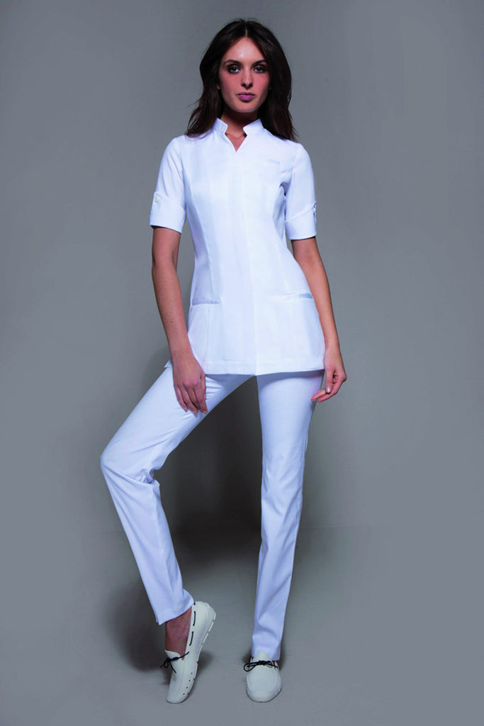 NIAGARA Tunic (White) - Spa - Beauty - Medical, Tunics - stylemonarchy.com