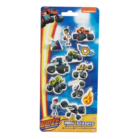 Blaze And The Monster Machines Character Mini Erasers 12 Pack