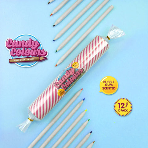 Candy Colours Bubble Gum Scented Coloured Pencils