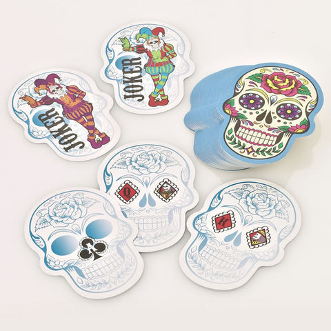 Boxer Games Candy Skull Shaped Playing Cards