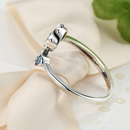 Anchor & Rudder Ring 925 Sterling Silver - Tea Palette