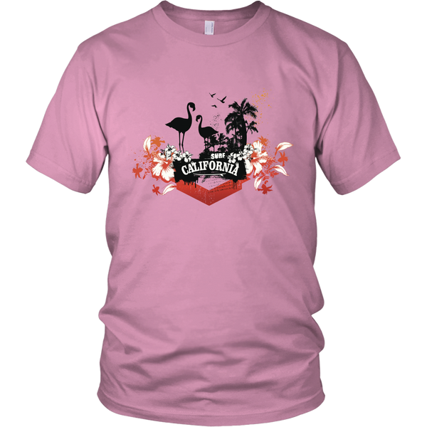 California Flamingo Unisex T-Shirt - Tea Palette