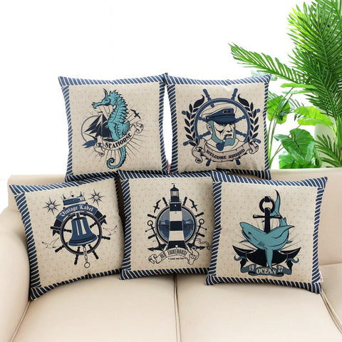 Ship Life Pillow Cases - Tea Palette