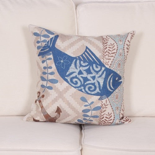 Ocean Life Pillow Covers - Tea Palette