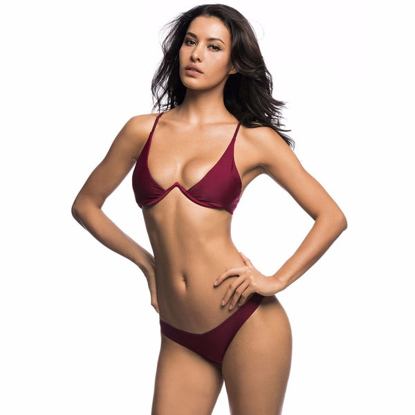 Center Lift Tong Slim Fit Bikini - Tea Palette