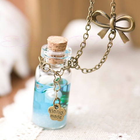 DISCOUNT Ocean Glass Bottle Pendant - Tea Palette