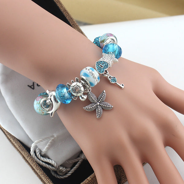 Ocean Theme Charm Bracelet Classic Collection - Tea Palette