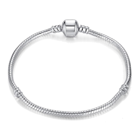 Pandora Compatible Silver Plated Snake Chain - Tea Palette