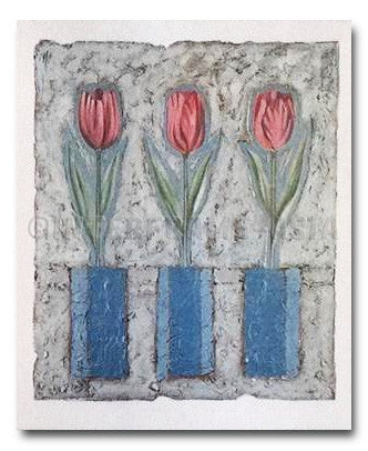 "Poster Art - Cesare Carra ""Three Tulips"""