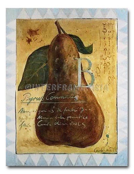 "Poster Art - Cesare Carra ""Pyrus Communis"""