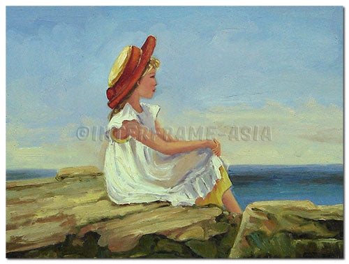 Young Lady - Painting On Canvas at INTERFRAME-ASIA