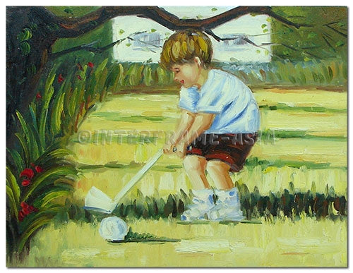 Mini Golf - Painting On Canvas at INTERFRAME-ASIA