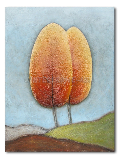 Cove Trees - Painting On Canvas at INTERFRAME-ASIA