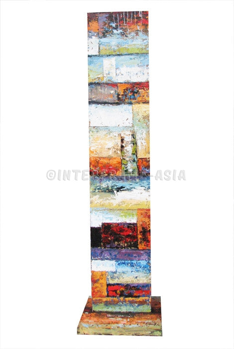 Abstract 2 - Art Stand - Wooden Artwork at INTERFRAME-ASIA