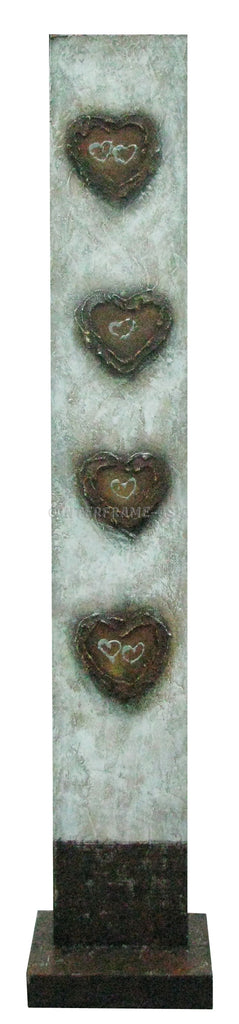 Hearts I - Art Stand - Wooden Artwork at INTERFRAME-ASIA