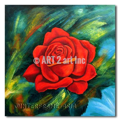 Red Rose - Painting On Canvas at INTERFRAME-ASIA